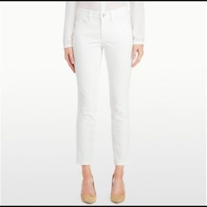 Nydj Alina ankle jeans white embroidered 12